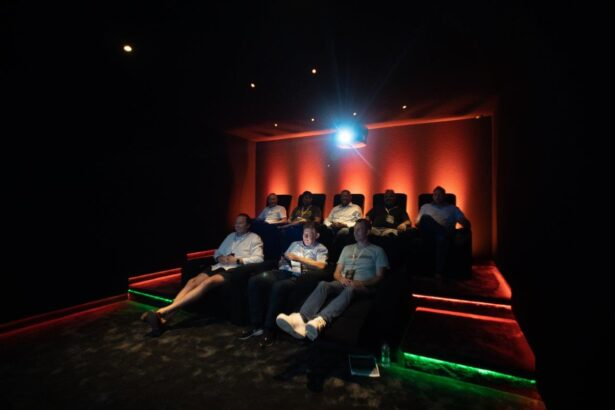 Home cinema seating at Invision