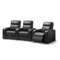 HCM Atlas 3-Seat Leather Cinema Seating